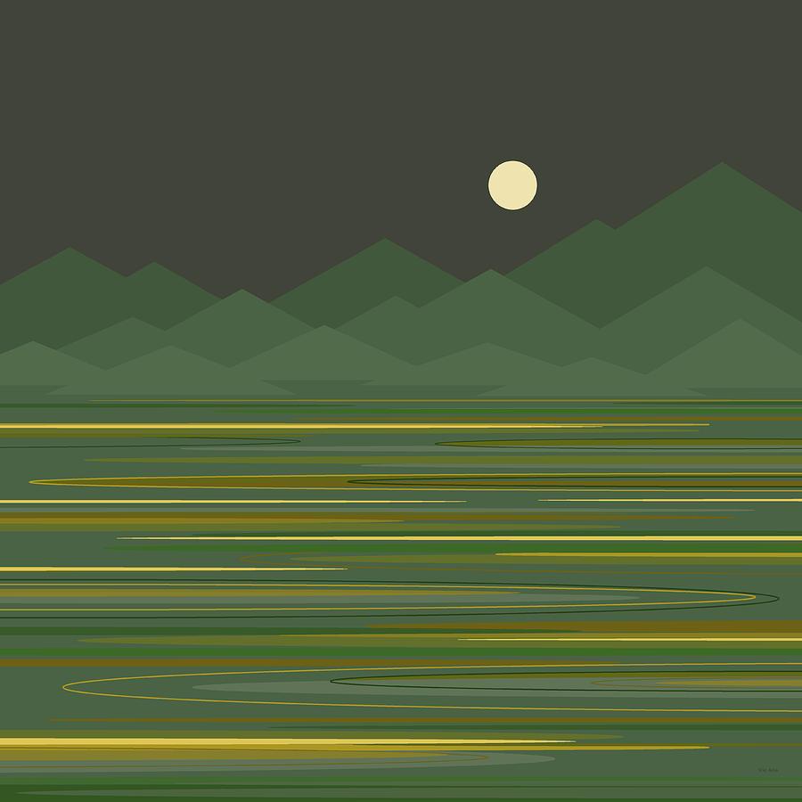 Mountain Lake Digital Art - Mountain Lake by Val Arie