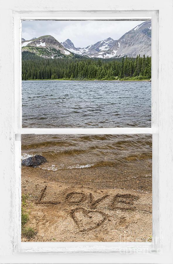 Mountain Lake Window Of Love Photograph