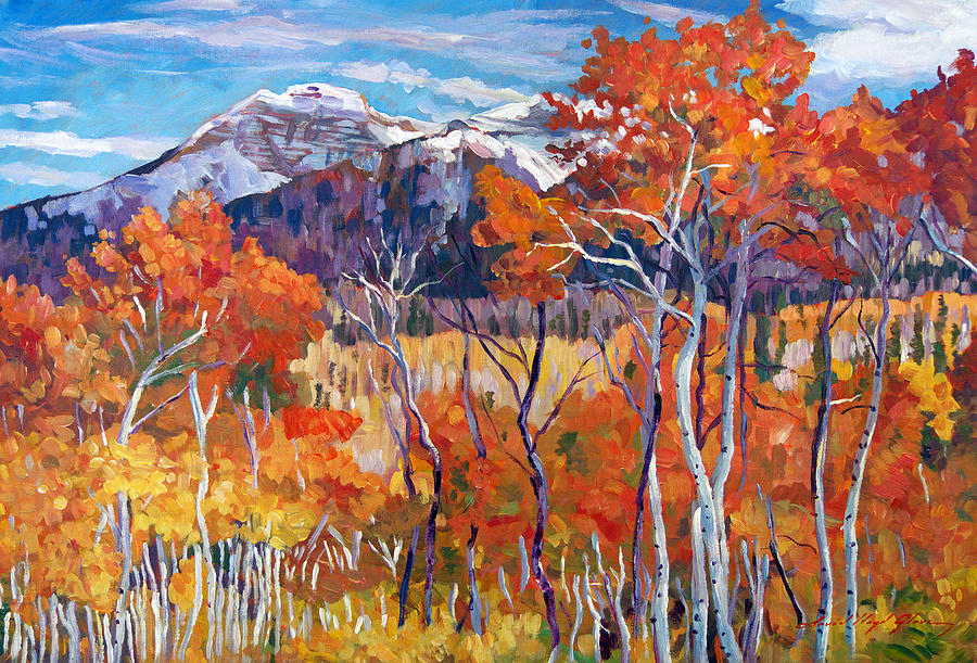 Landscape Painting - Mountain Silence by David Lloyd Glover