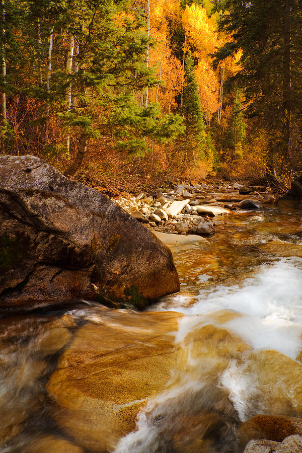 Autumn Photograph - Mountain Stream In Autumn by Utah Images