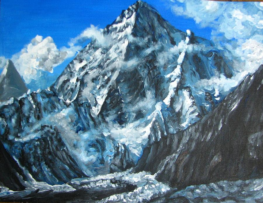 Painting Snow On Moutains In Acrylics