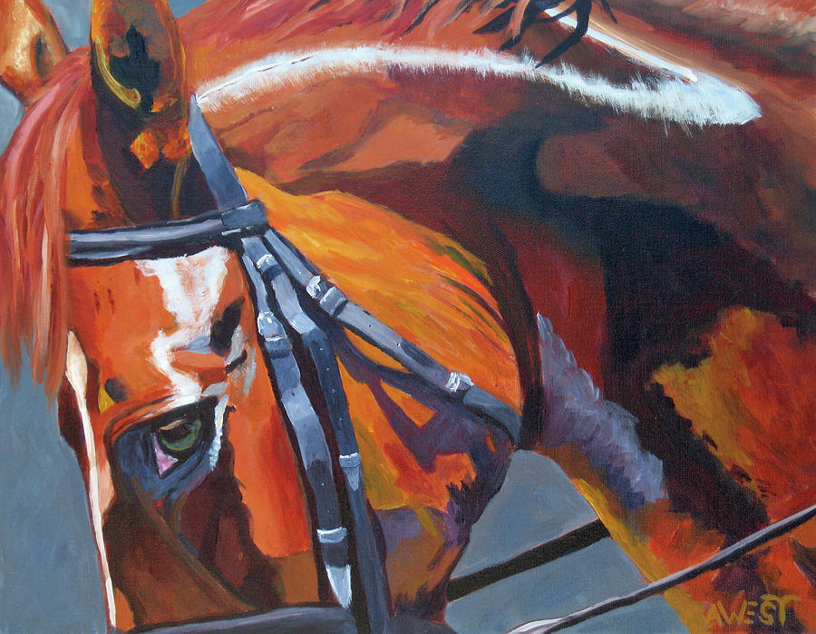 Horse Painting - Mr. Big Stuff by Anne West