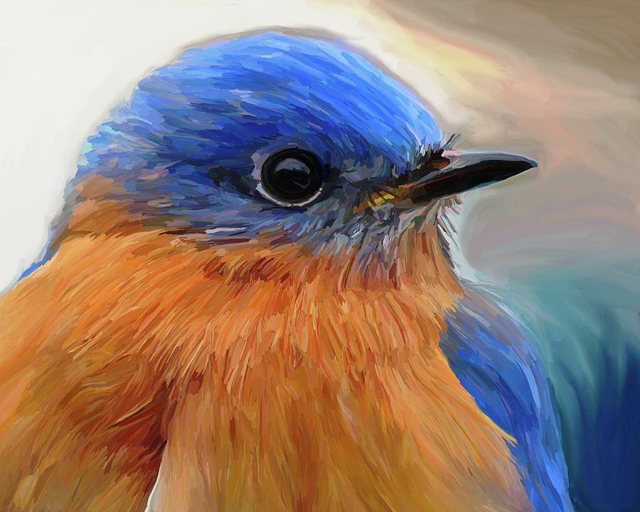 Mr. Blue Painting