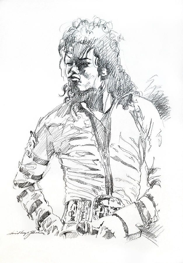 Michael Jackson Drawing - Mr. Jackson by David Lloyd Glover