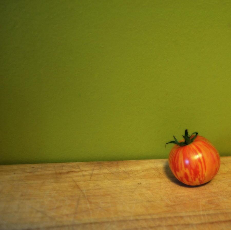 Tomato Photograph - Mr. Stripey by Michelle Calkins