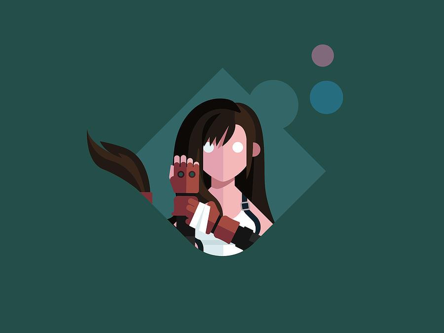 2932x2932 Tifa Lockhart Final Fantasy Artwork Ipad Pro: Ms. Lockhart Digital Art By Michael Myers