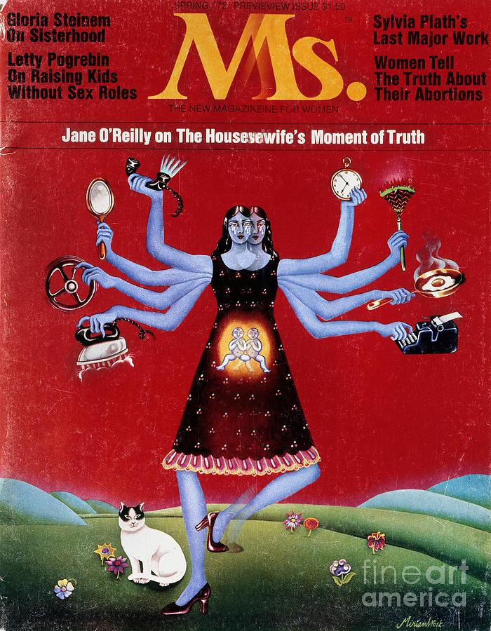 1972 Photograph - Ms. Magazine, 1972 by Granger