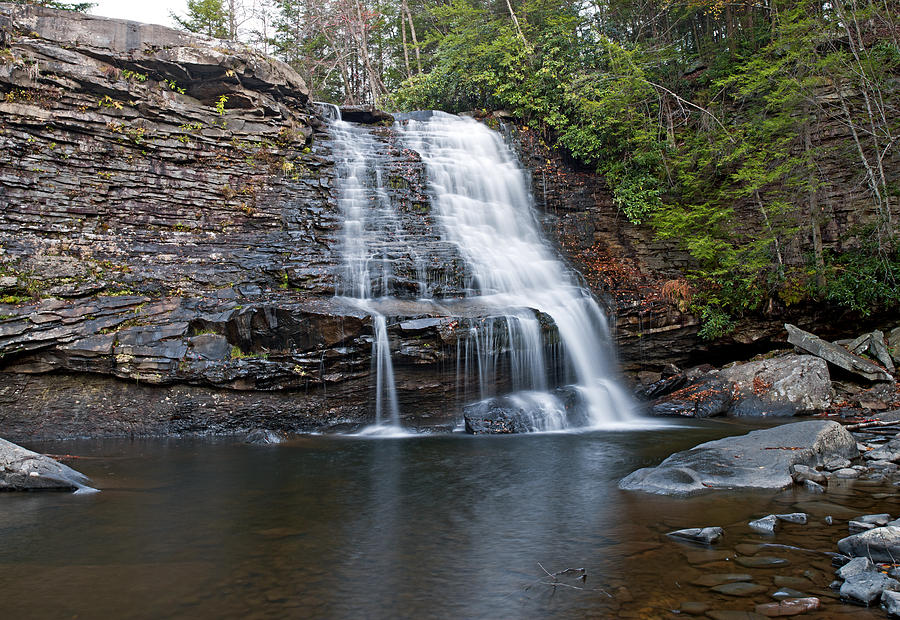 Swallow Photograph - Muddy Creek Falls In Swallow Falls State Park Maryland by Brendan Reals