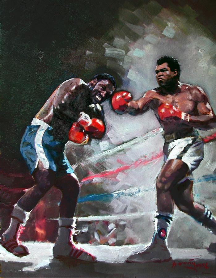 Muhammad Ali And Joe Frazier Painting