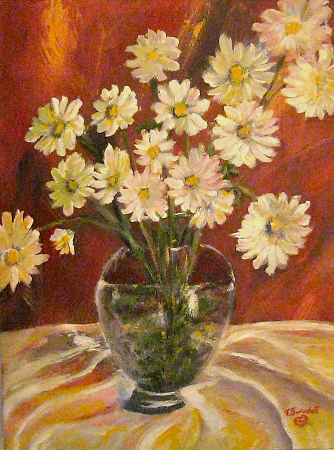 Mums Painting - Mum Magic by Tina Swindell