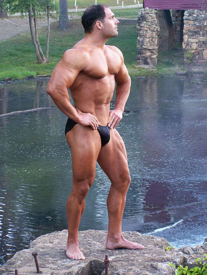 Marius Photograph - Muscleart Marius Full Pose by Jake Hartz