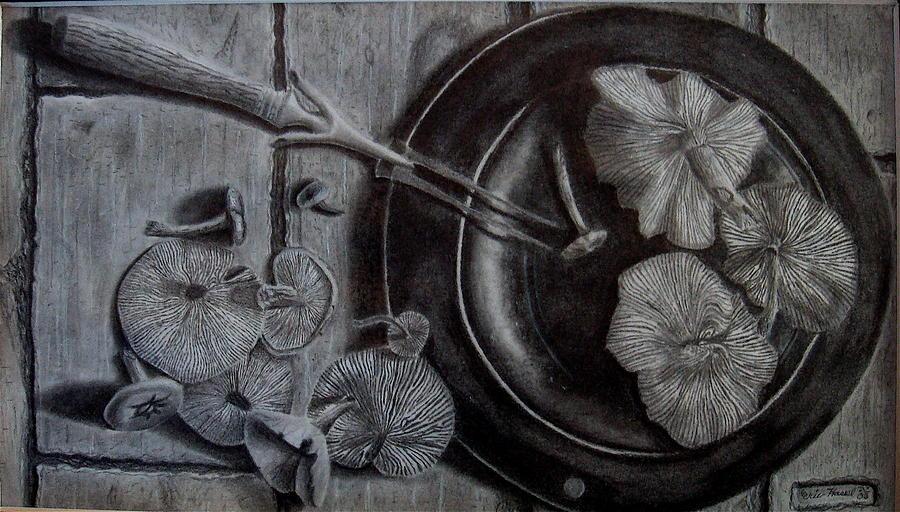 Mushroom Drawing - Mushroom Dinner by Eric Hausel
