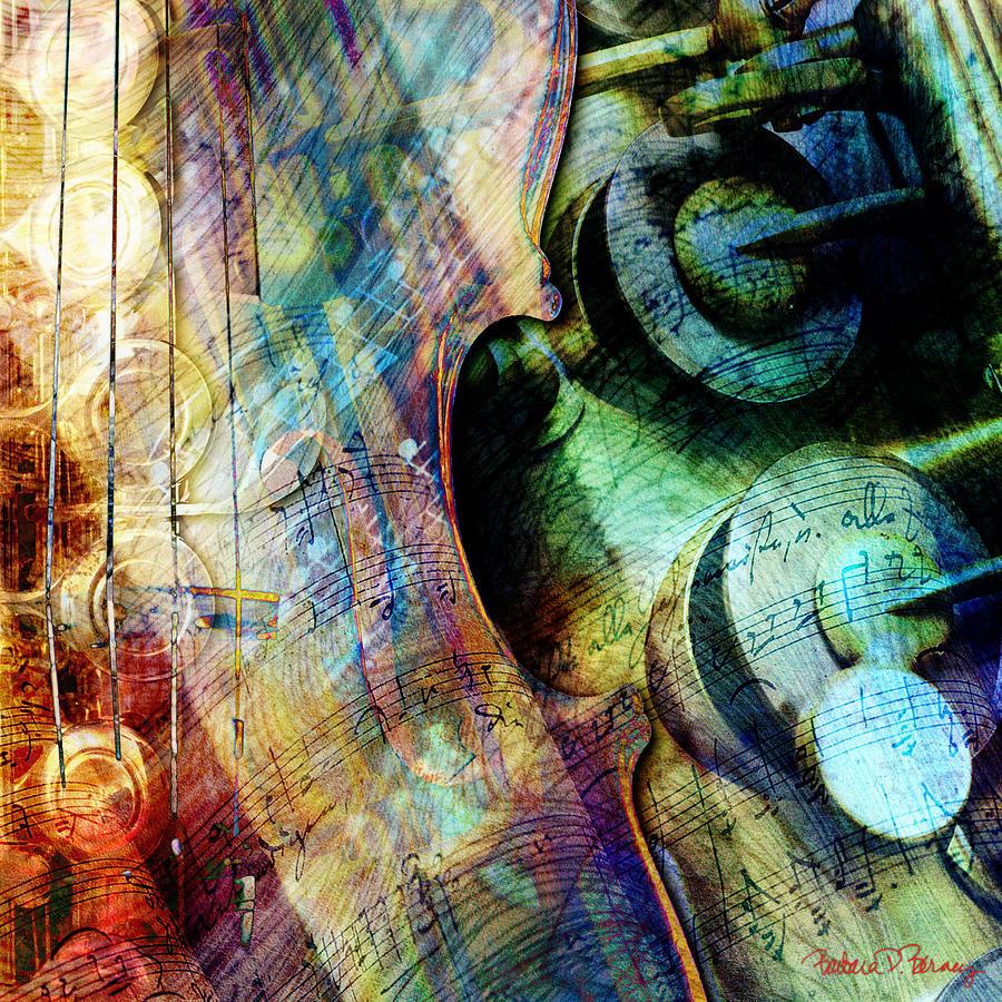 Strings Digital Art - Music II by Barbara Berney
