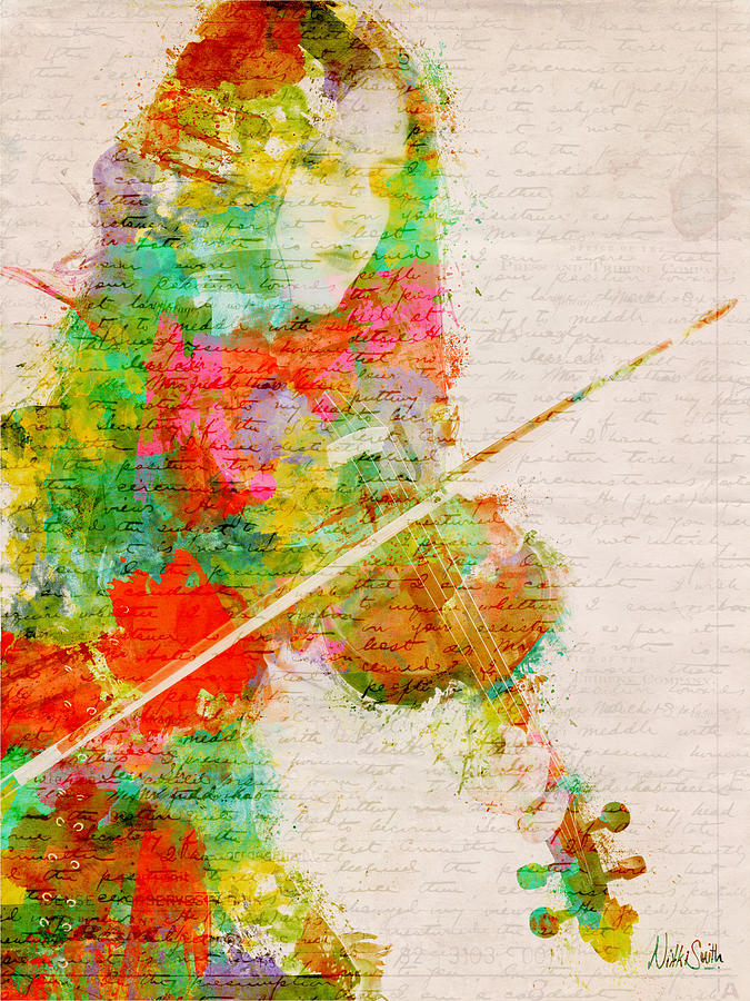 Violin Digital Art - Music In My Soul by Nikki Smith