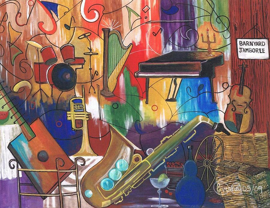 Musical Instruments Iv Painting by Everna Taylor