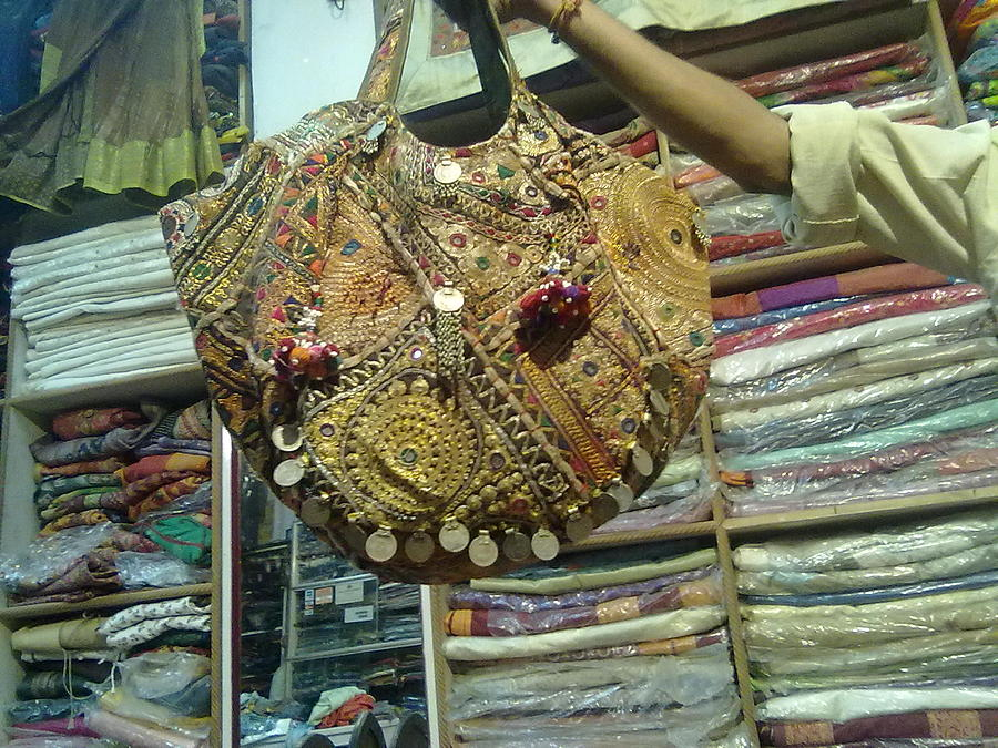 Patchwork Bag Tapestry - Textile - Muslim Patchwork Bags by Dinesh Rathi