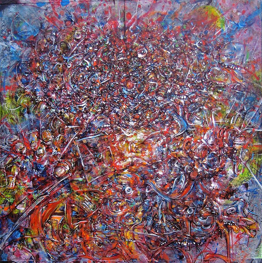 Exploding Painting - Mutilator Album Cover by Doug Hoffman