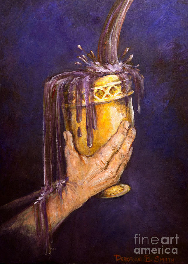 Goblet Painting - My Cup Runs Over by Deborah Smith