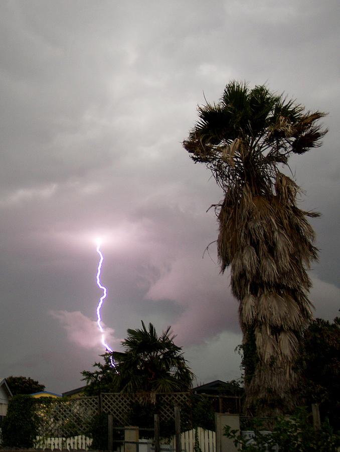 Lightning Photograph - My First Bolt by James Granberry