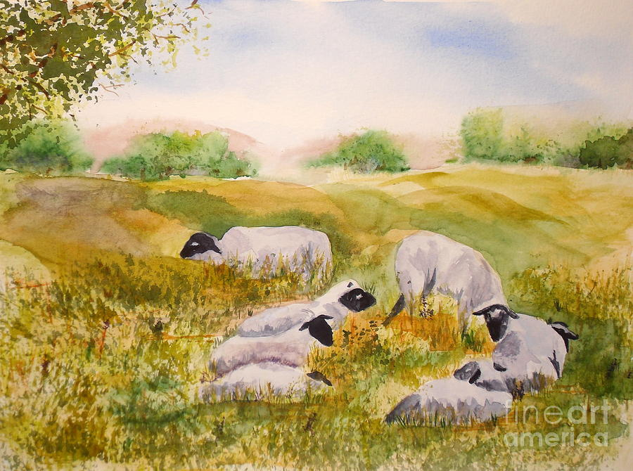 My Flock Of Sheep Painting By Vicki Housel