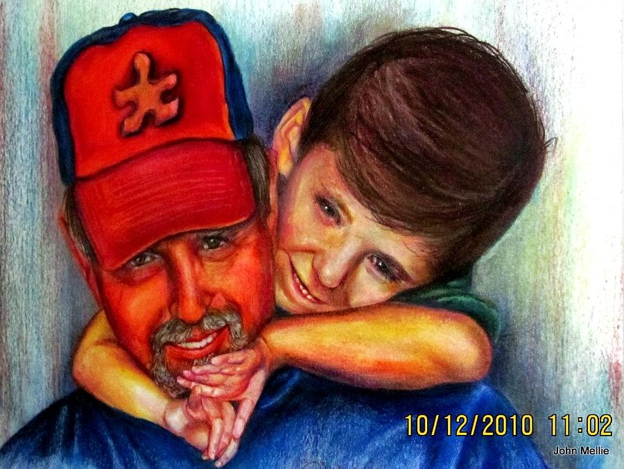 Portraits Drawing - My Joy by John Mellie