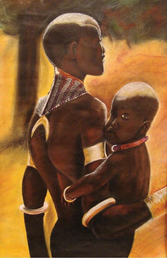 Black Art Pastel - My Love by Stacy V McClain