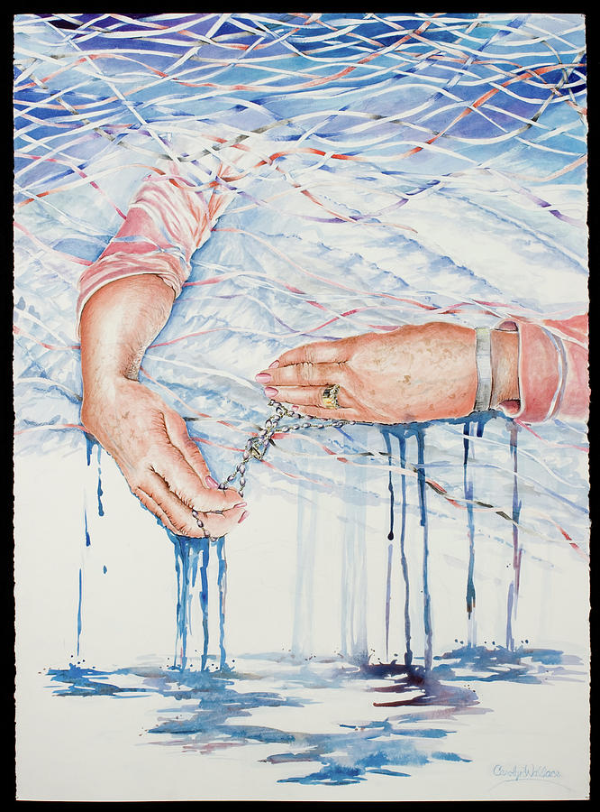 Love Painting - My Mothers Hands by Carolyn Coffey Wallace