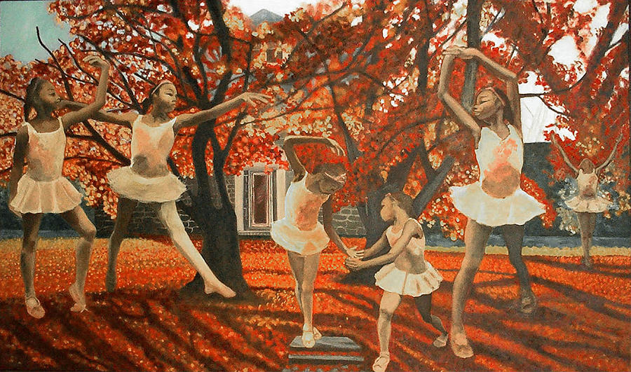 Dancing Painting - My Spirit Rises In Fall by Amira Najah Whitfield