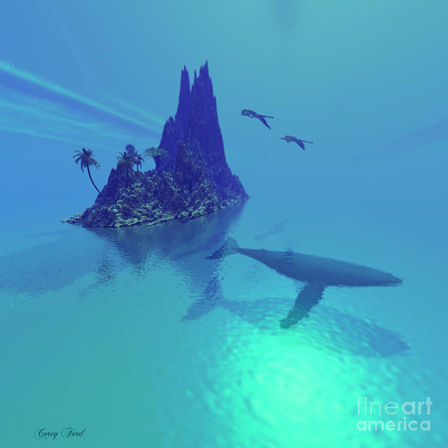 Seaside Painting - Mystery Island by Corey Ford