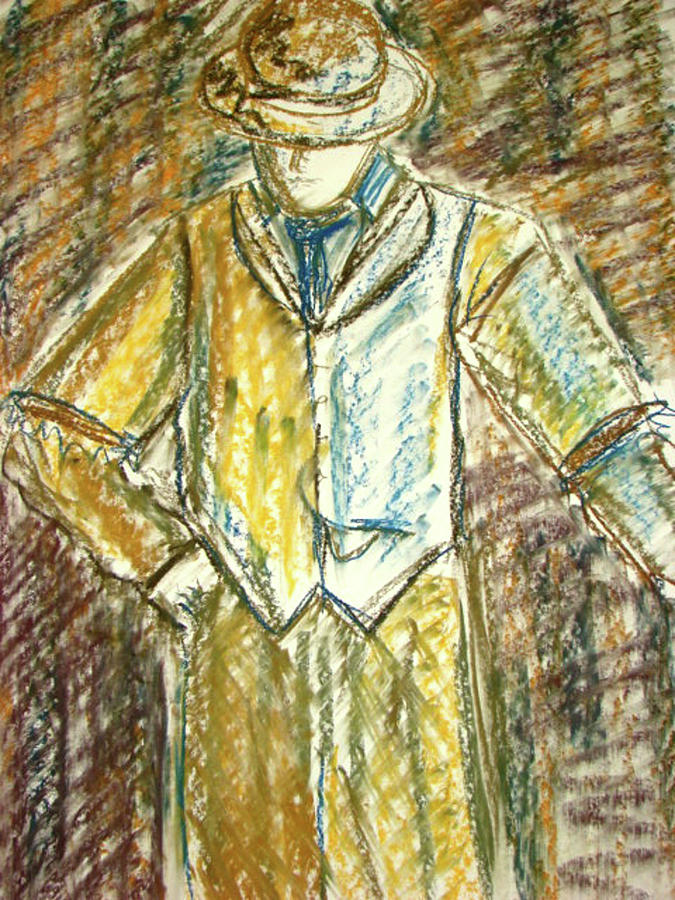 Man Painting - Mystery Man by Cathie Richardson