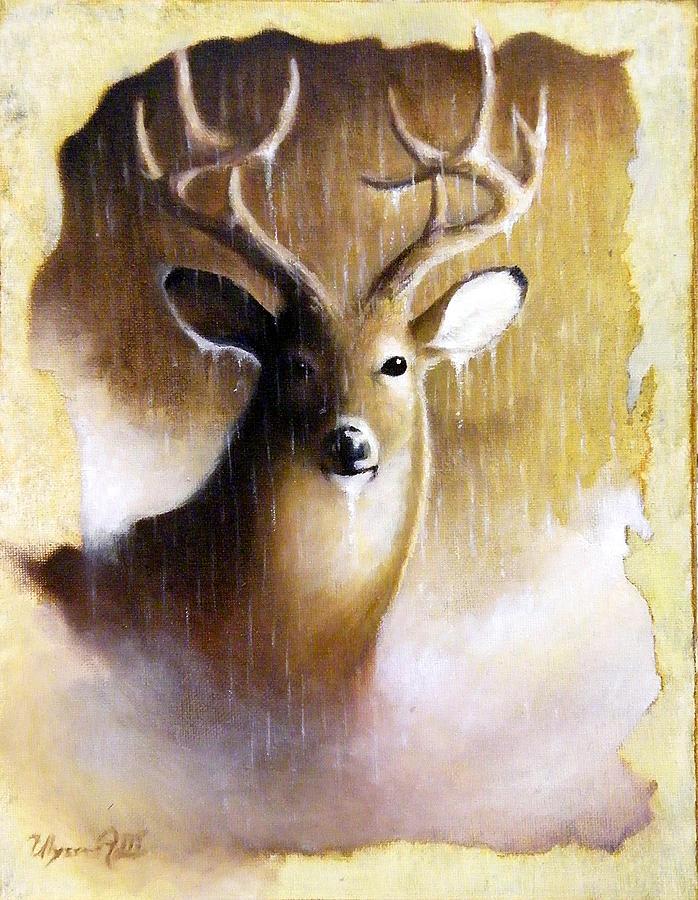 Deer Painting - Mystery by Ulysses Albert III