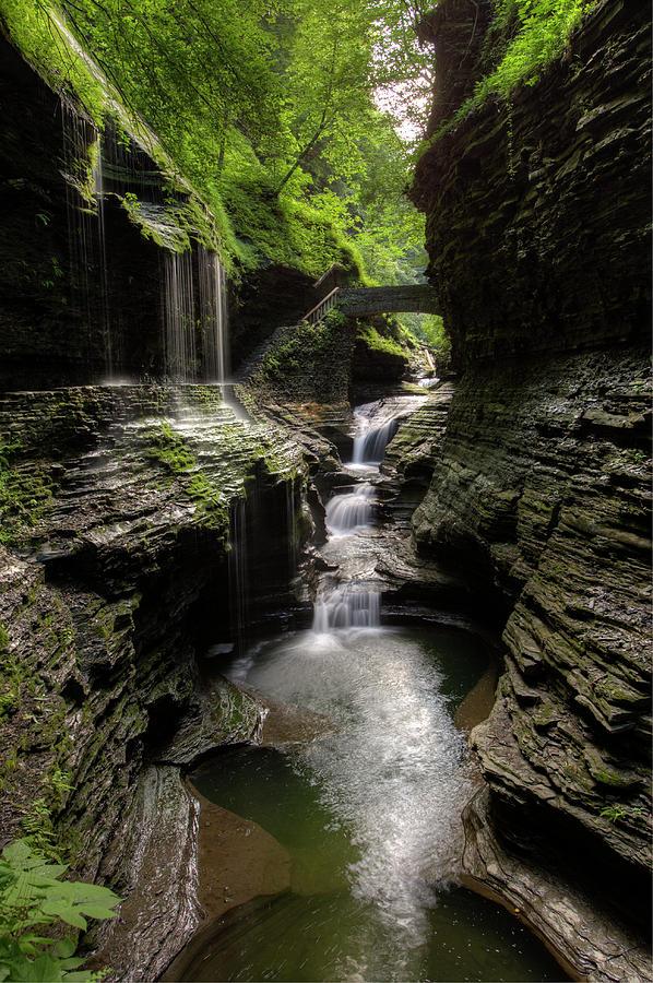 Landscape Photograph - Mystic Falls by Nick  Shirghio