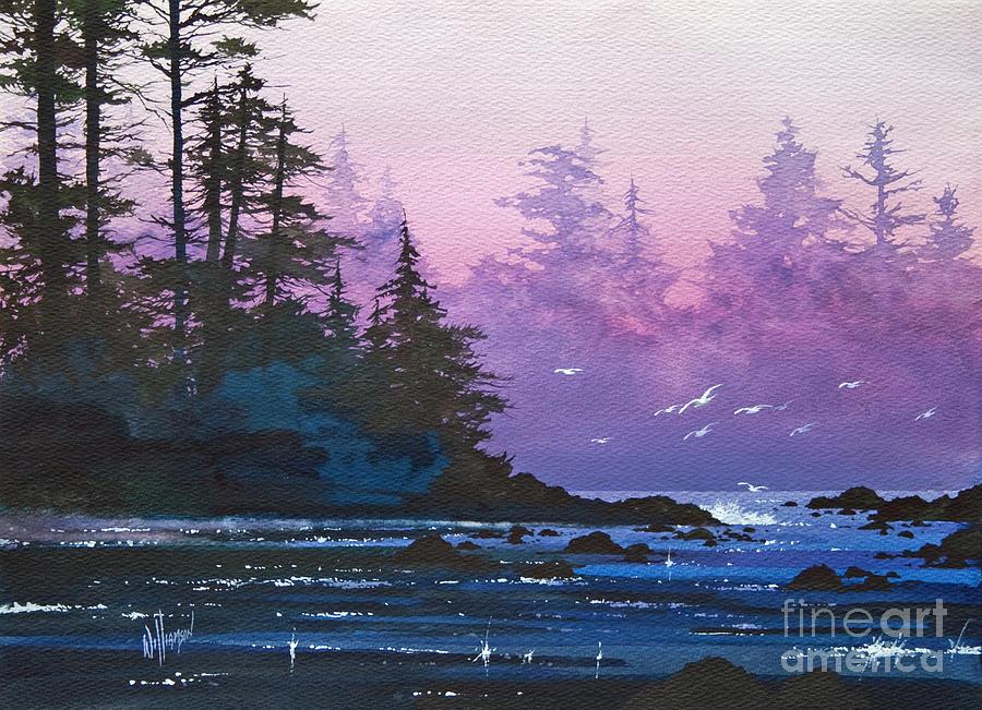 Landscape Fine Art Print Painting - Mystic Shore by James Williamson