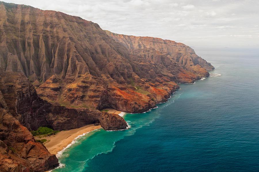 Na Pali Coast Pacific Ocean Kauai Island Hawaii Seascape Photograph - Na Pali Coast 3 by Brian Harig