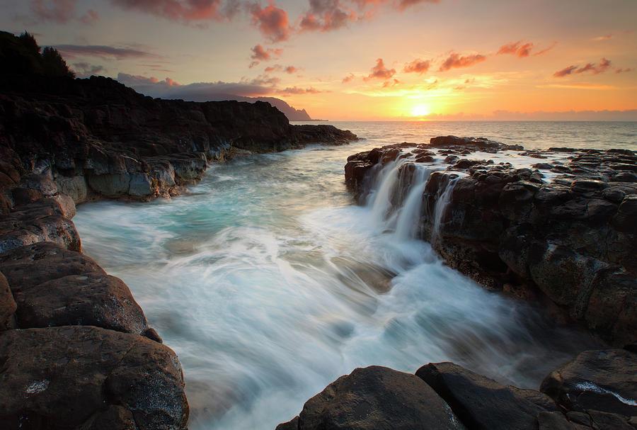 Na Pali Sunset Photograph