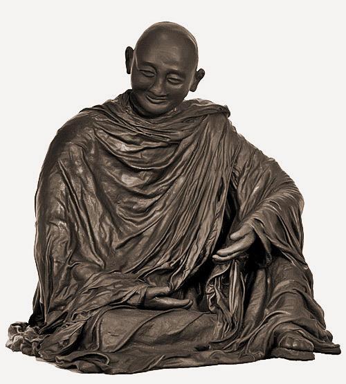 Monk Sculpture - Namaste by Kristie Sheehy