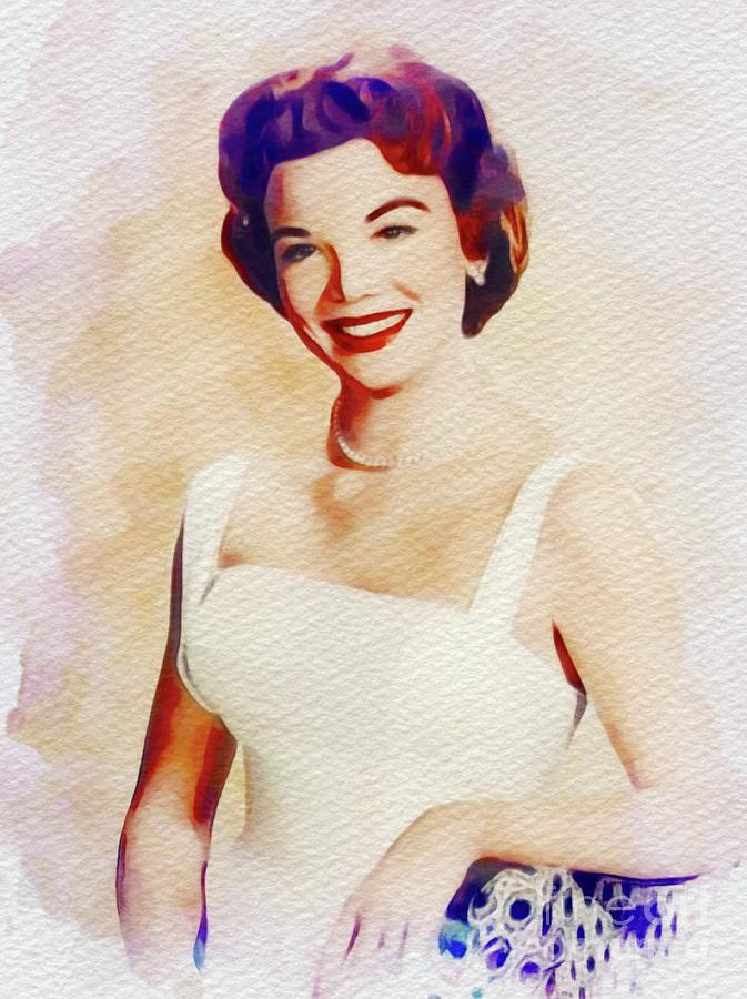 Nanette Fabray, Vintage Movie Star Painting