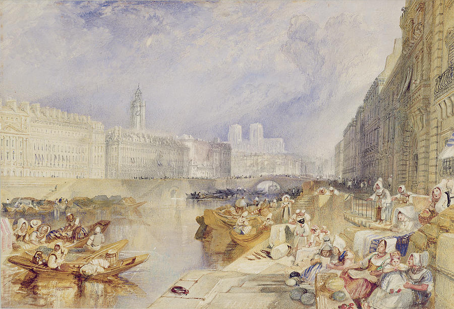 Nantes Painting - Nantes by Joseph Mallord William Turner