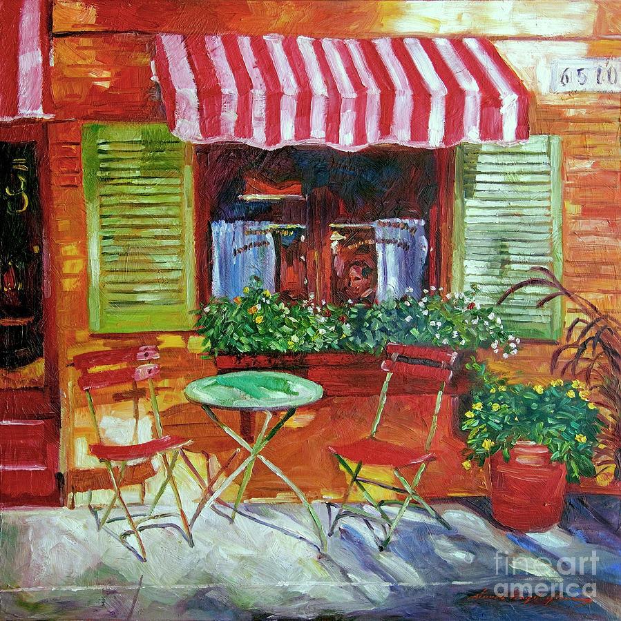 Bistro Painting - Napa Bistro by David Lloyd Glover