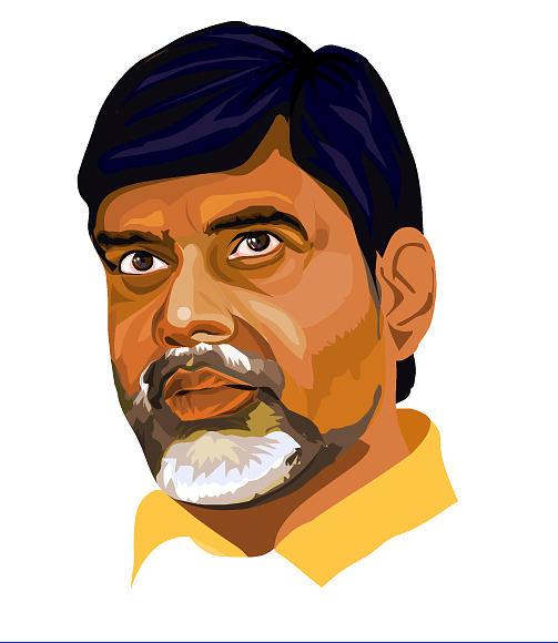 Tdp Leader Digital Art - Nara Chandrababu Naidu by Venkat Meruvu