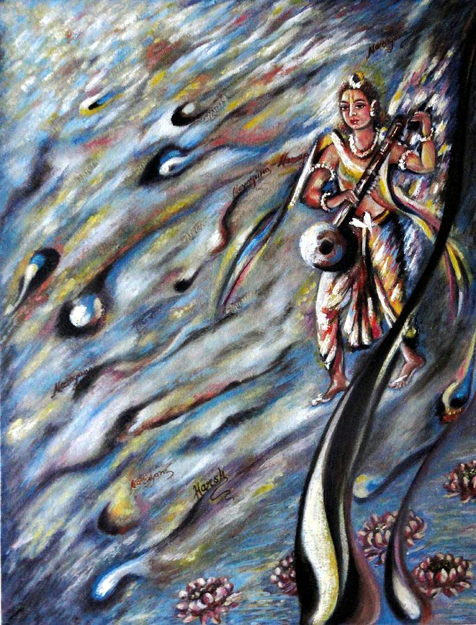 Narad Painting - Narada Muni by Harsh Malik