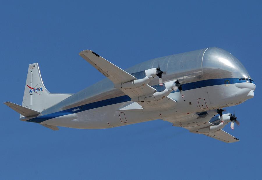 Airplane Photograph - Nasa Super Guppy N941na Davis-monthan Afb Arizona March 8 2011 by Brian Lockett