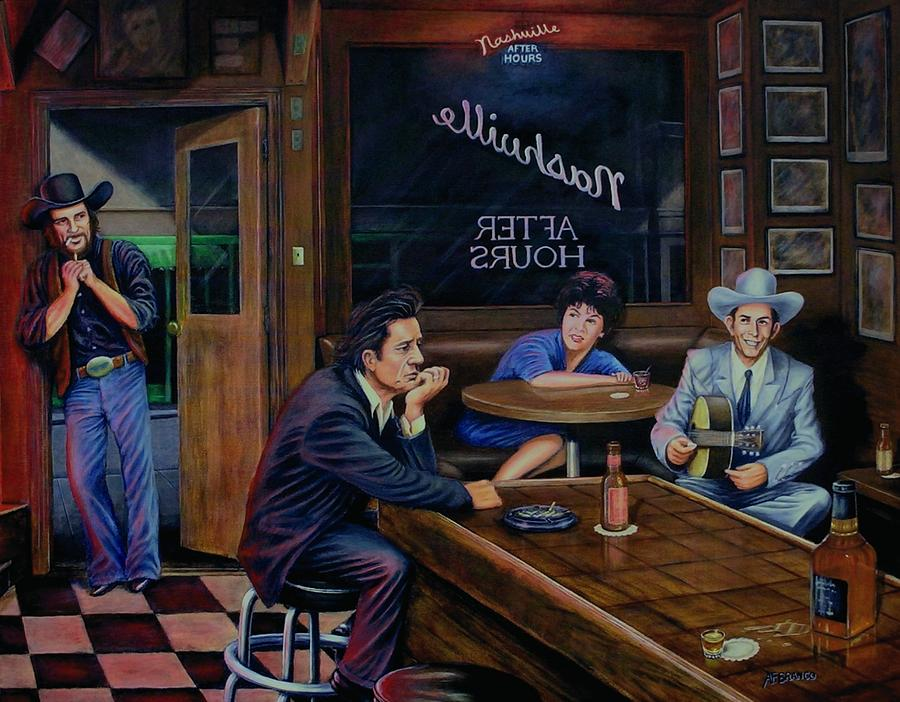 Nashville Painting - Nashville After Hours by Antonio F Branco