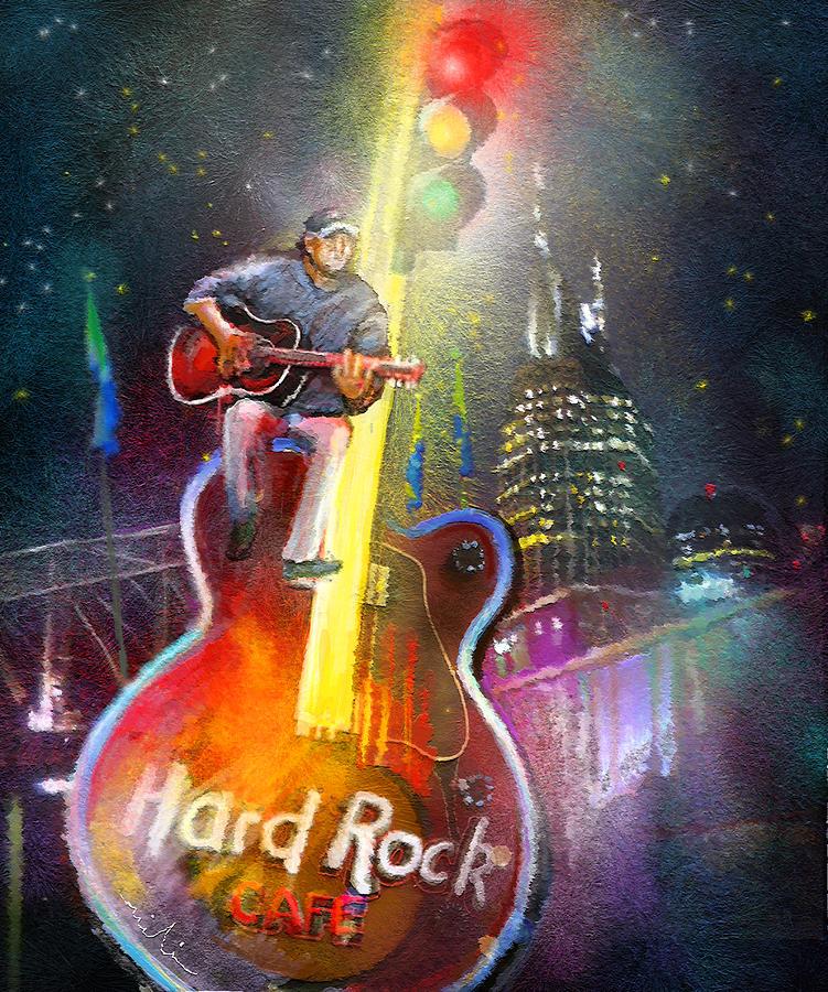 Hard Rock Cafe Painting - Nashville Nights 01 by Miki De Goodaboom