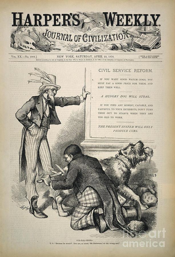 1876 Photograph - Nast: Civil Service Reform by Granger