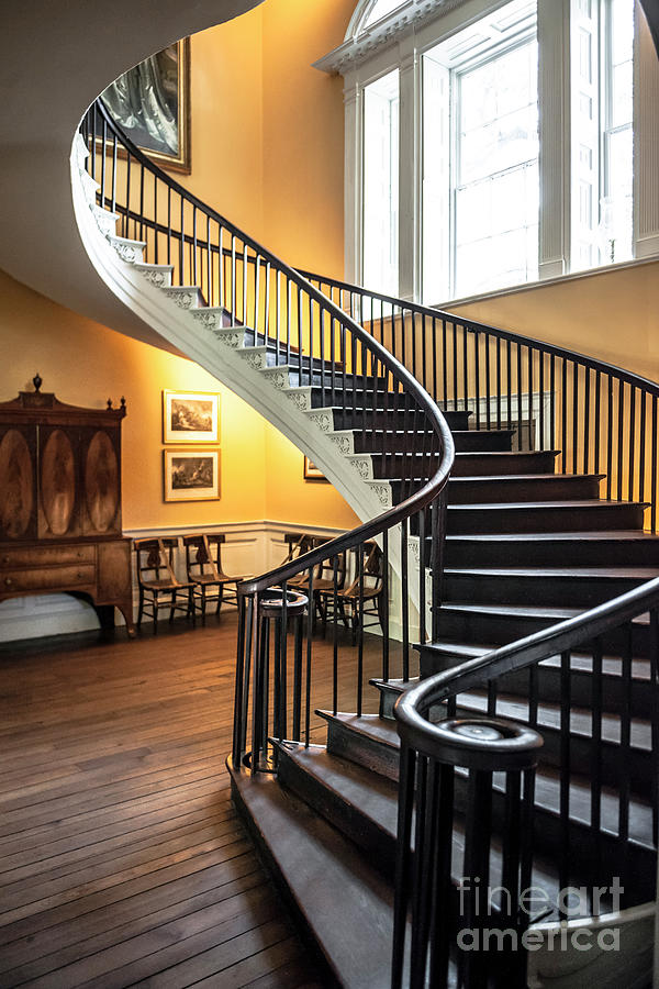 Nathaniel Russell House Free Floating Staircase Photograph