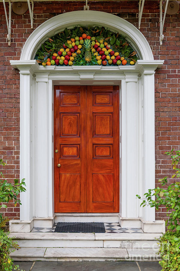 Nathaniel Russell House Pineapple Entrance Photograph