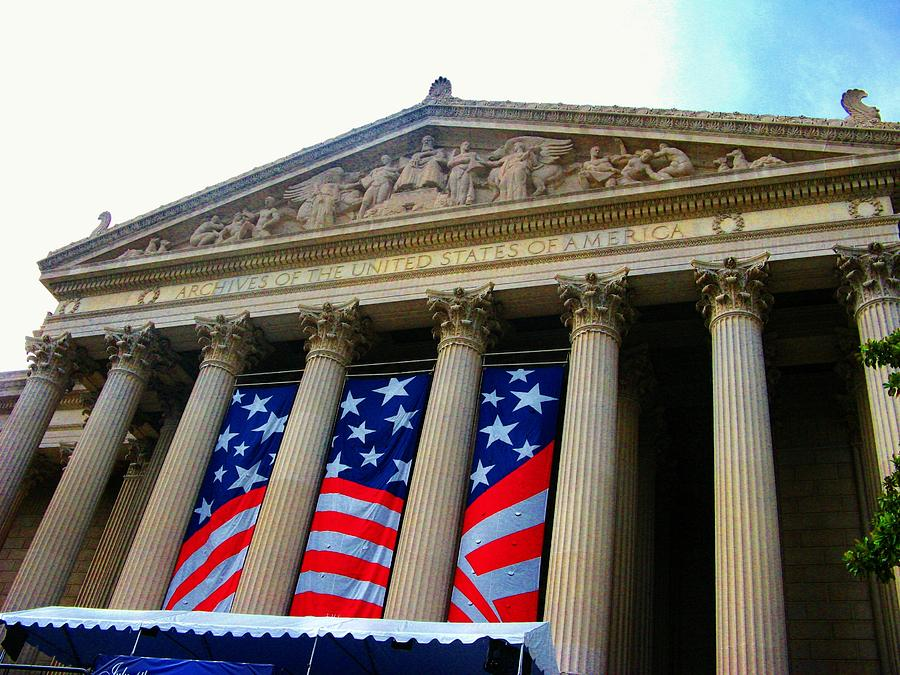 Washington Dc Photograph - National Archive Building by Joyce Kimble Smith