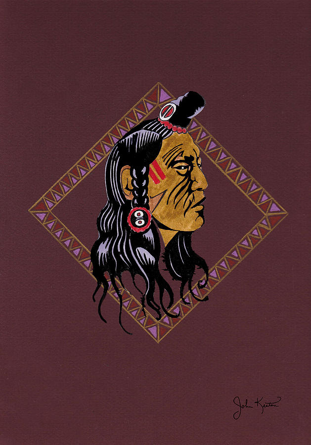 Native American Pride Drawing