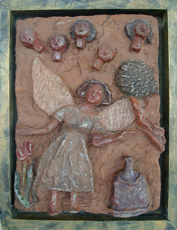 Clay Relief - Natividad 1 by Lorna Diwata Fernandez